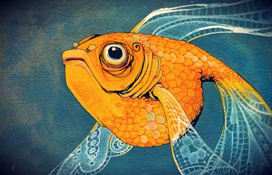 Αποτέλεσμα εικόνας για goldfish art